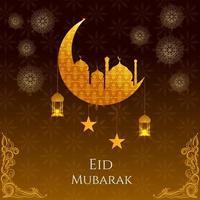 fondo decorativo del festival eid mubarak vector