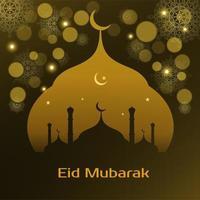 diseño de fondo de vector islámico abstracto eid mubarak