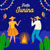 concepto de festa junina vector