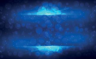 Fondo borroso azul abstracto con efecto bokeh vector