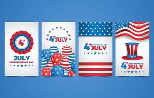 Fourth July Independence Day Card vector