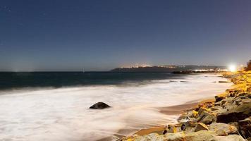 Long exposure of beach photo