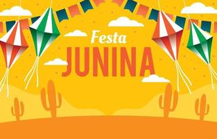 Festa Junina with Kites Illustration vector