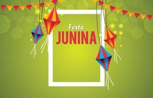 Festa Junina with Kites Illustration Background vector