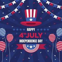 4th July Independence Day Illustration vector