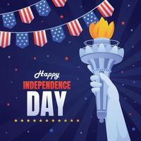 4th of July American Illustration vector