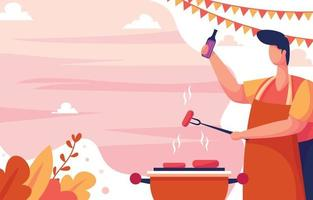 Picnic Barbeque Background vector