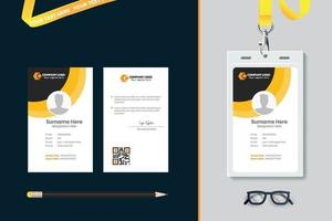 diseño de plantilla de tarjeta de identificación simple con vector