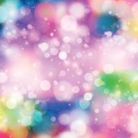 Bokeh borroso multicolor sobre un fondo rojo. vector