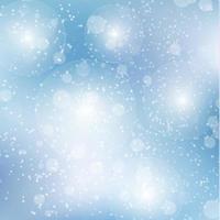 Bokeh borroso blanco sobre fondo azul - vector