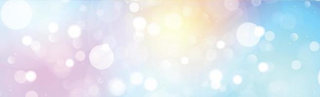 Bokeh borrosa multicolor sobre fondo panorámico vector