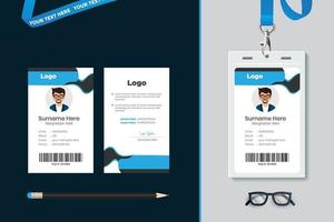 simple Id card template design with vector