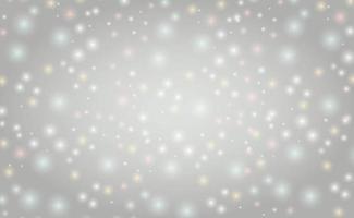 Fondo borroso abstracto blanco con efecto bokeh vector
