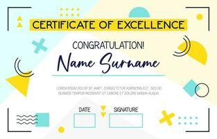 School Fun Certificate vector