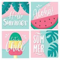 Summer Card Set vector