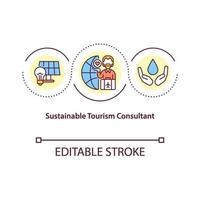 icono de concepto de consultor de turismo sostenible vector