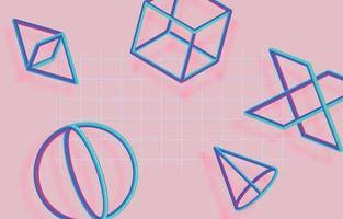 fondo rosa moderno vector
