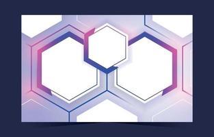 Hexagonal banner background vector