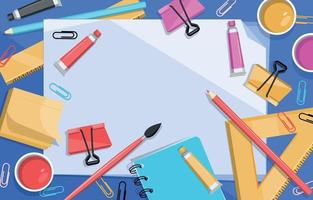 Back to school stationery background vector