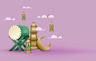 Islamic bedug background vector