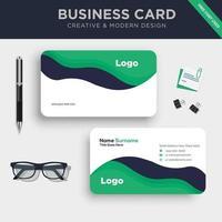 plantilla de tarjeta de visita creativa de doble cara vector