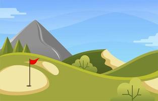 golf de actividades al aire libre vector