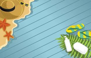 Summer Element Background vector
