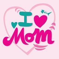 tarjeta del día de la madre en diseño vectorial vector