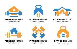 fitness en el concepto de logotipo de casa vector