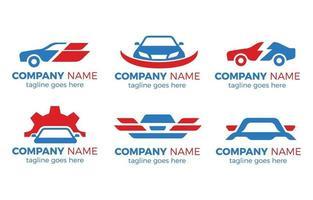 colección de logotipos de coches vector