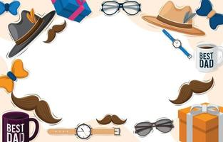 Flat Father's Day Background vector
