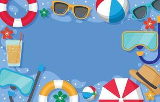 Flat Summer Element Background vector