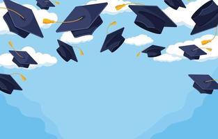 Happy Flat Graduation Background vector