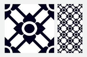 Azulejos antiguos patrones portugueses antiguo diseño sin costuras en la ilustración vectorial vector