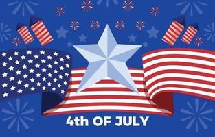 la celebración del día de la independencia más esperada vector