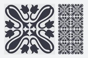 Patrones de azulejos vintage antiguo diseño sin costuras en ilustración vectorial vector