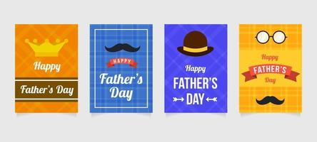 Father's Day Festivity Card Collection vector