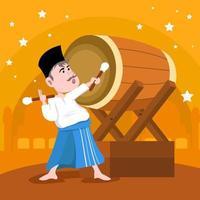Bedug Beat Ramadan vector