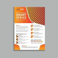 diseño de plantilla de volante de folleto de negocios profesional degradado vector