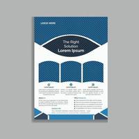 Diseño único de plantilla de volante de folleto promocional de negocios creativos vector