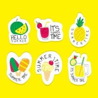 Summer Food Sticker Concept vector