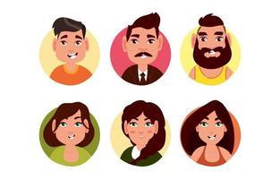personaje de avatar de personas vector