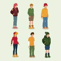 Isometric Character Concept vector