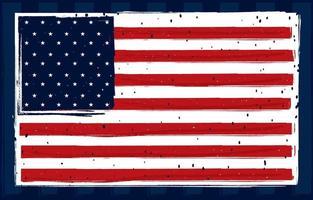 American Flag Illustration Concept vector