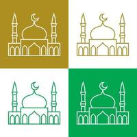 Mosque simple vector icons set