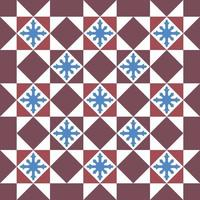 patrón de azulejos florales vintage peranakan sin costura tradicional que se encuentra en georgetown penang vector