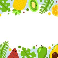 Yummy Summer Food Background vector