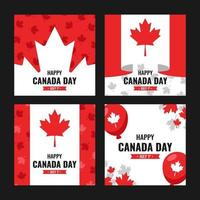 Red and White Canada Day Card vector