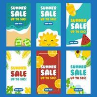 Summer Vibe Social Media Post vector