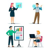 Business Character Set vector